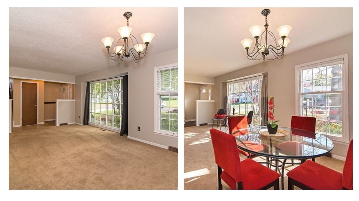 dining room flip before and after