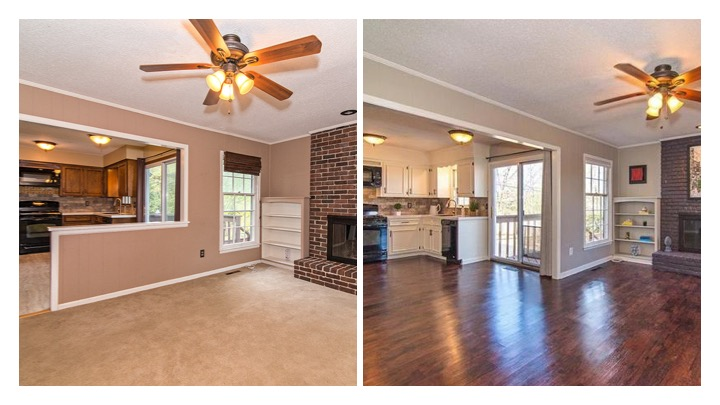 hearth room flip before and after