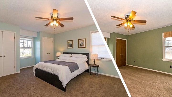 master bedroom flip before and after